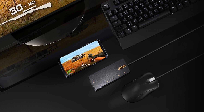 ATEN USB-C Multiport Mini Dock with Power Pass-Through